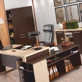 Мебель в кабинет руководителя для преуспевающей женщины