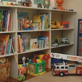 Хранение игрушек в детской комнате