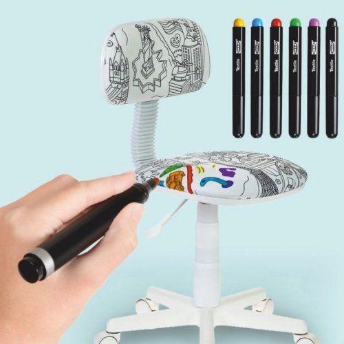 Детский стул-раскраска: то, что нам в детстве запрещали, теперь можно!