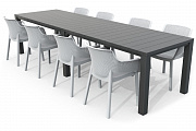 Стол раскладной Julie Double table 2 configurations Графит